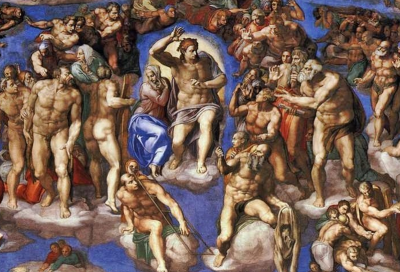 Michelangelo, Christ at the final judgment