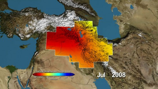 Euphrates River Drying Up in the important Euphrates
