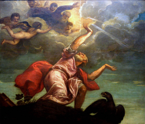 Apostle John on Patmos, Titian.png