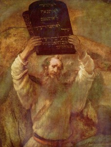 Moses Breaking the Tablets, Rembrandt