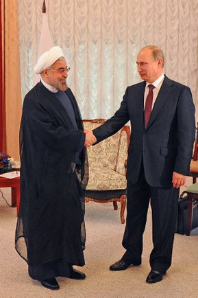 Hassam Rouhani of Iran and Putin, from www,kremlin,ru