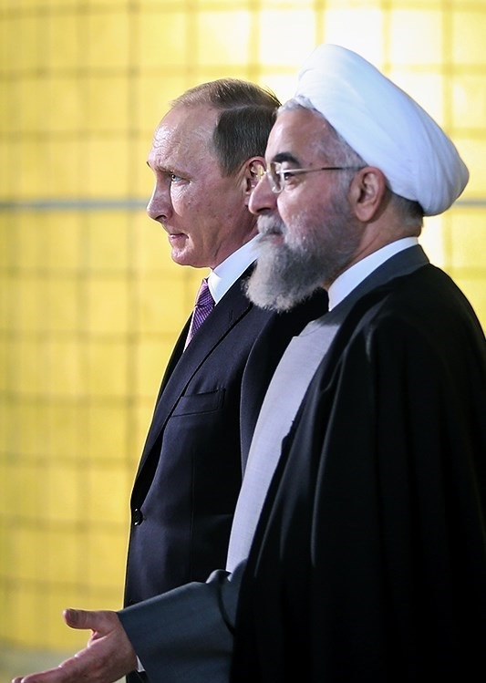 Hassan Rouhani and Putin in Tehran, 2015, By Hamed Malekpour
