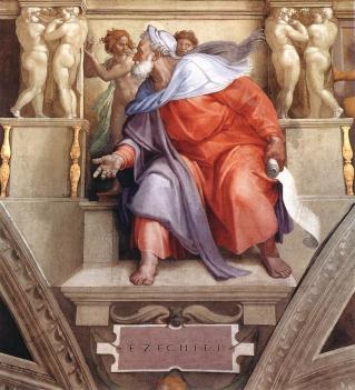 The Prophet Ezekiel, Michelangelo