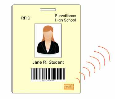 RFID badge and electronic circuit