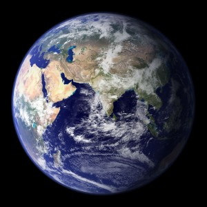 Globe east, NASA image