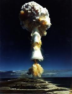 Licorne nuclear test, French Polynesia