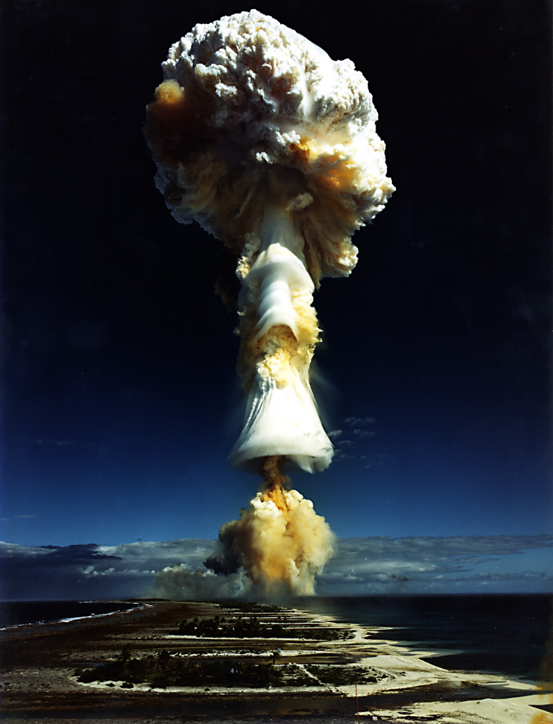 Licorne nuclear test, French Polynesia