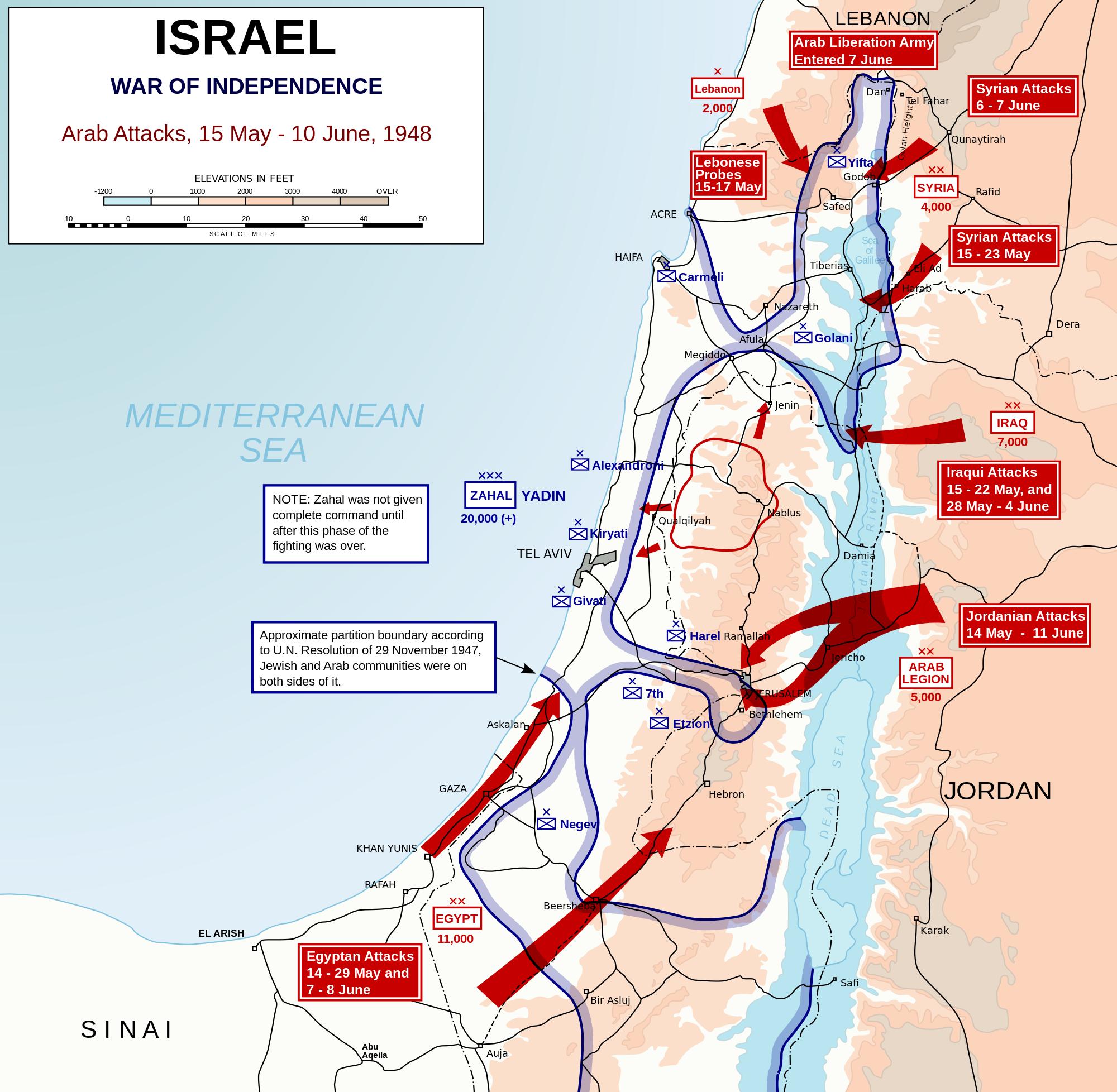 1948 arab israeli war arab attack paths wikipedia