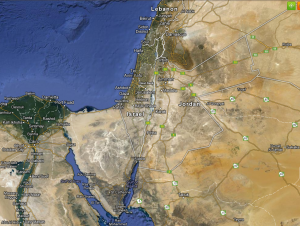 Israel in the Middle East, Gosur maps image