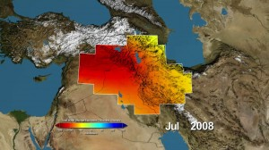 Loss of fresh water in Middle East, NASA image