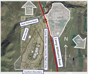 Utah data center, construction site plans, US Army Corp of Engineers