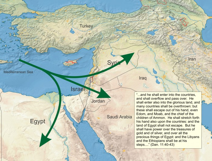 The Time Of The End - Map of egypt and syria