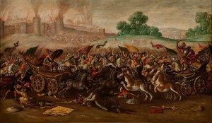 Juan de la Corte - The Burning of Jerusalem by Nebuchadnezzar's Army