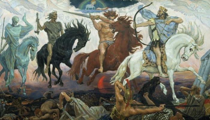 Victor Mikhailovich Vasnetsov - The Four Horsemen of the Apocalypse