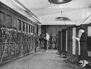 ENIAC computer in the 1940s