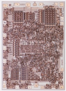 Intel 8008 processor, die image