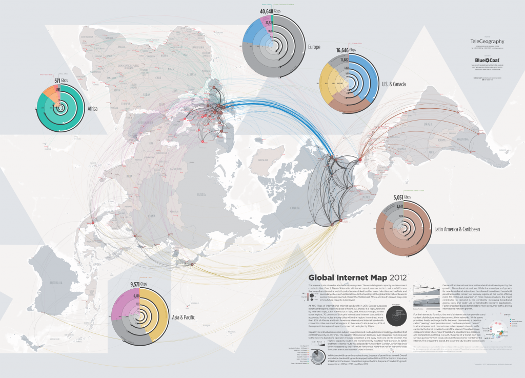 Global Internet Map, 2012, by Telegeography.com