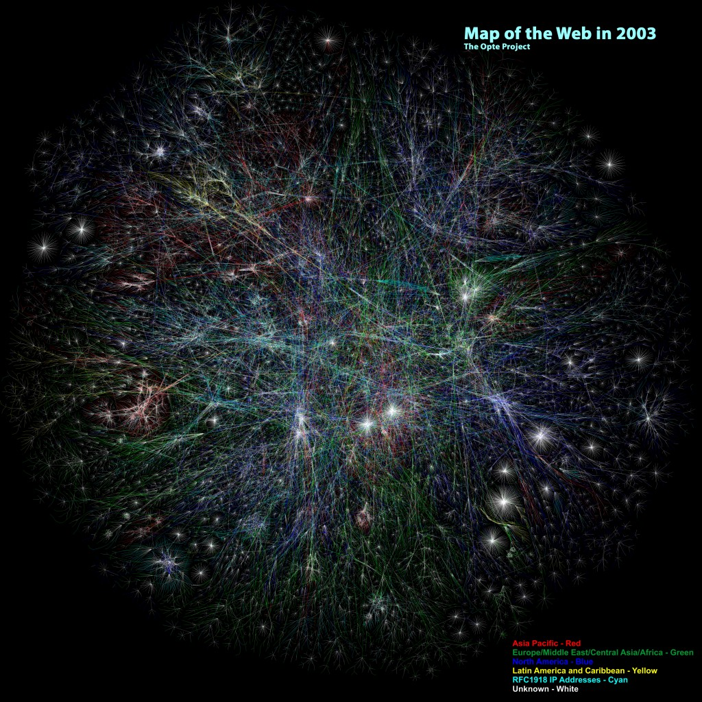 Map of the Web in 2003, by The Opte Project