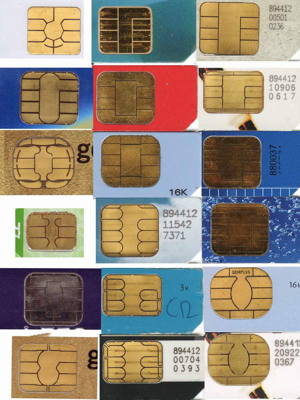 Smart card contact pad layouts, Wikipedia