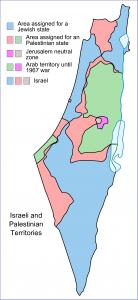 British Mandate of Palestine & armistice boundaries, 1949