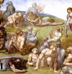 Resurection of the dead, Michelangelo