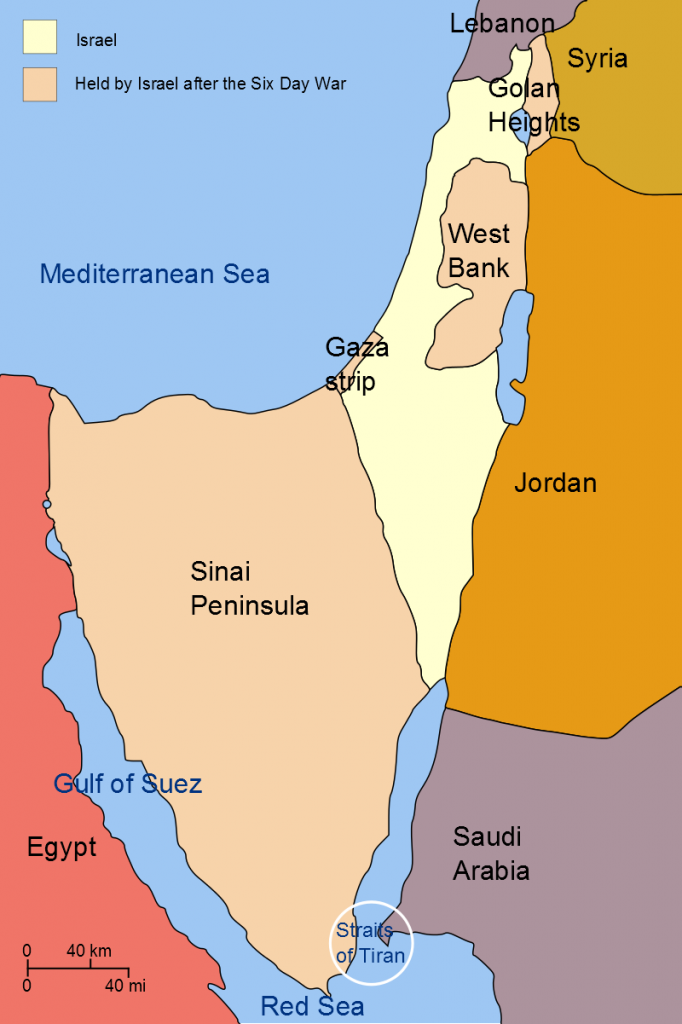 Six Day War, Territories won by Israel, Wikipedia