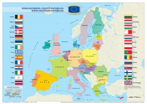 European Union map, 2013, from Europa.eu