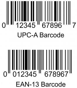 UPC-A vs EAN-13 Barcodes