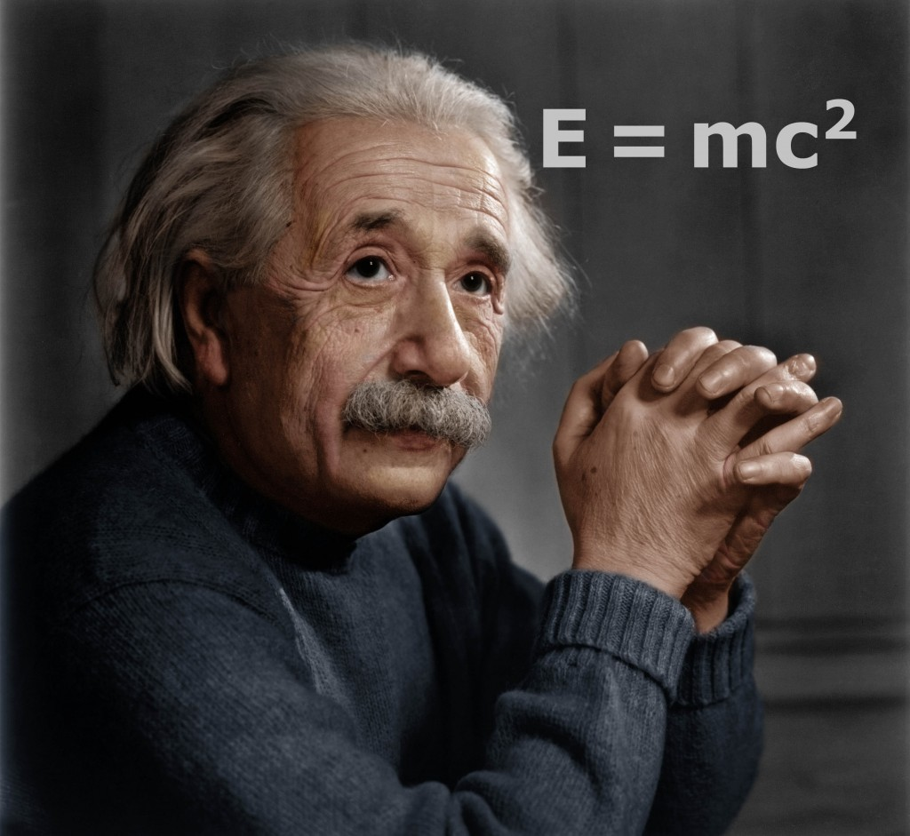 Albert Einstein, E=mc2