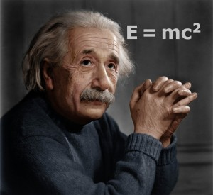 Albert Einstein, E=mc2