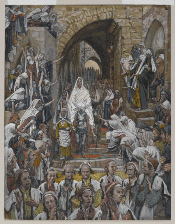 Jesus on Palm Sunday, by James Tissot