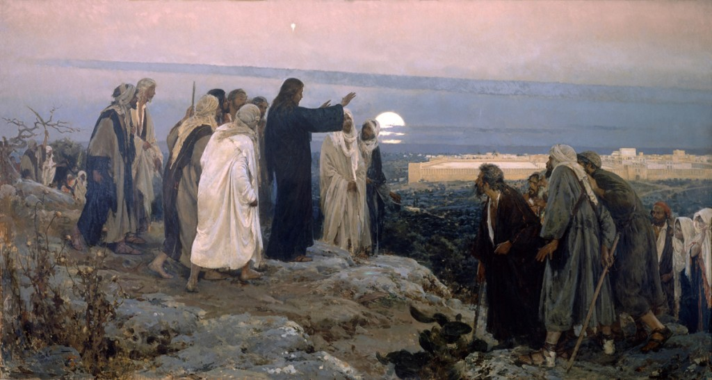 Jesus weeps over Jerusalem, by Enrique Simonet, Wikipedia