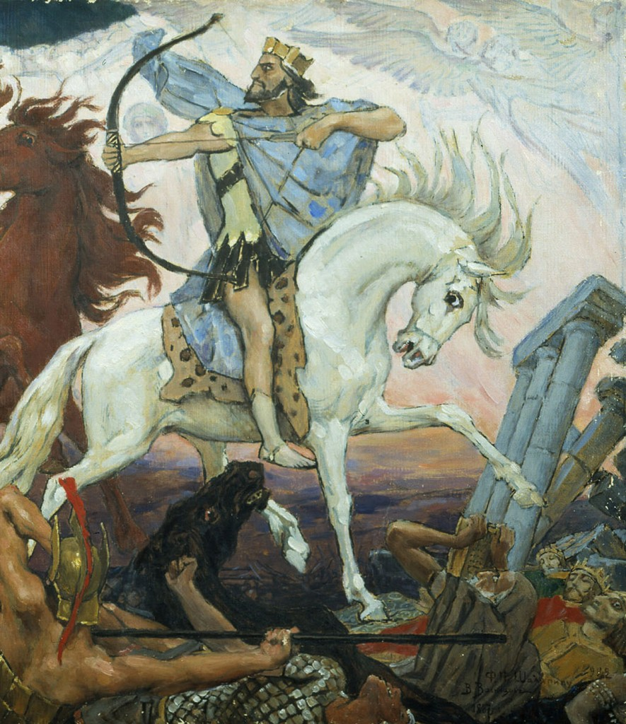 Victor Mikhailovich Vasnetsov - The Antichrist on a White Horse
