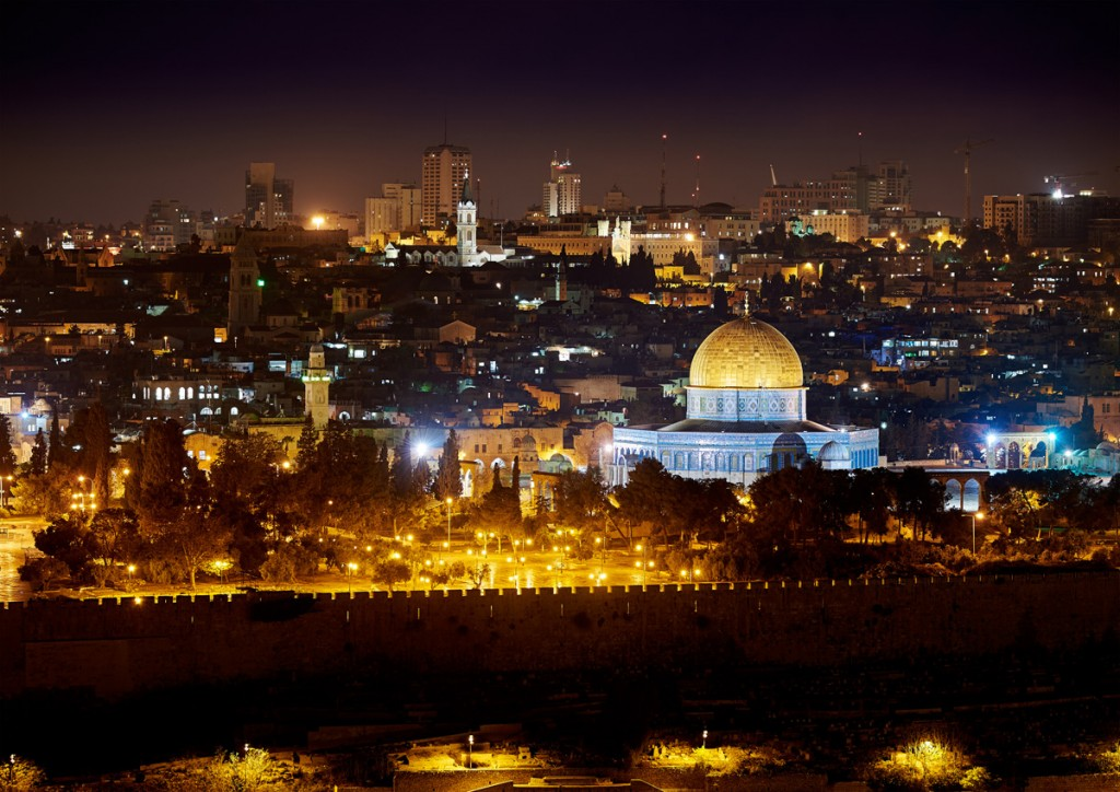 Jerusalem Lights at Night