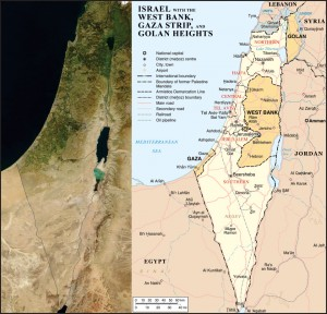 Map of Israel with Satellite image, Wikipedia