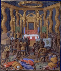 Pompey enters the Temple, 63 BC, by Jean Fouquet