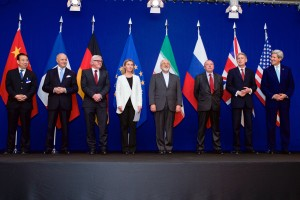 P5+1 and EU representative with Iran after signing the Nuclear Deal