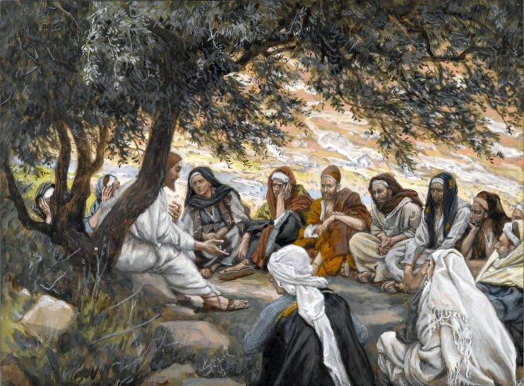 James Tissot, The Exhortation to the Apostles. The testimony of the Disciples concerning the rapture came directly from Christ.