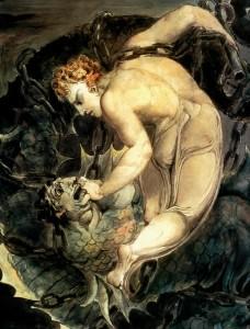 The Angel Michael Binding Satan, William Blake