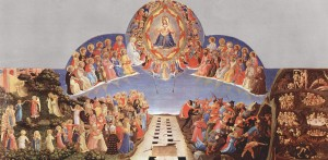Separating the Sheep and Goats, by Fra Angelico