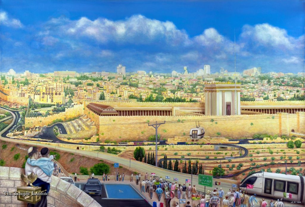 Painting of the Temple, commissioned by the Temple Institute