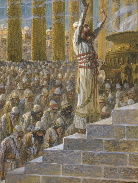 Solomon dedicates the Temple in Jerusalem, by Tissot