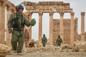 Russian military clears mines in Palmyra Syria, Ministry of Defence, Russian Fed copy