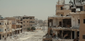 Destruction in Raqqa from the Syrian conflict