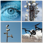 Surveillance collage, Pixabay images